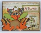 Turkey Thanksgiving Fall  Handmade Paper Piecing 3D Greeting Card