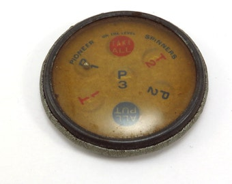 Pioneer On The Level Spinners Vintage Put and Take Spinning Game