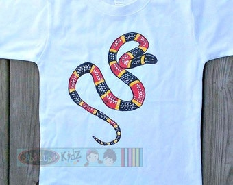 Coral Snake shirt boys Boutique custom painted 12 18 24 2 3 4 5 6 8 10