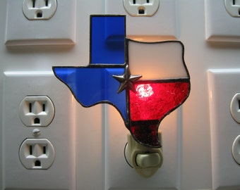Texas Stained Glass Night Light