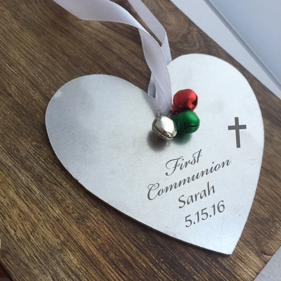 Personalized Baptism Cross Glass Ornament By Specialornaments: First Communion Ornament First Communion Gift By