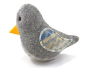 Birds of a Sweater Catnip Cat Toy - Gray with Blue, Yellow, and White