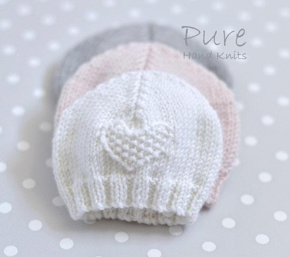 Easy Preemie Hat Knitting Pattern : EASY KNIT Preemie and Baby hat knitting pattern from ...