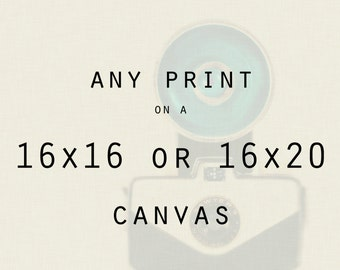 Any 16x16 or 16x20 Canvas Gallery Wrap