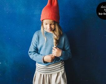 Unisex Knit Sweater: DUST BLUE