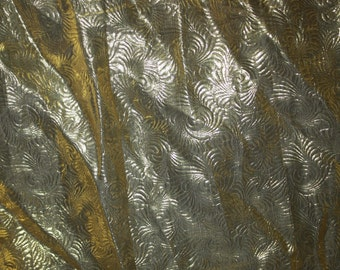 3 yards plus beautiful gold lame material fabric