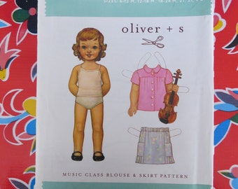 Oliver & S Music Class Blouse and Skirt Pattern, 6 months to 4