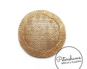 Mini 6.5cm Sinamay Hat Base for Fascinators & Millinery - Metallic Gold