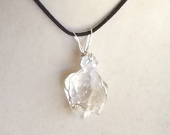 Wire Wrapped Herkimer Diamond Pendant
