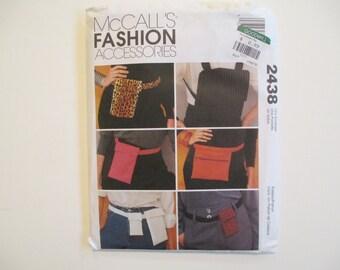 McCall's 2438, Uncut, Belt Bags