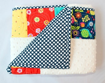 Quilted Baby Blanket/ Crib Quilt