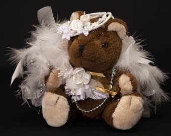 Hand Decorated Brown Bear-Item 2078