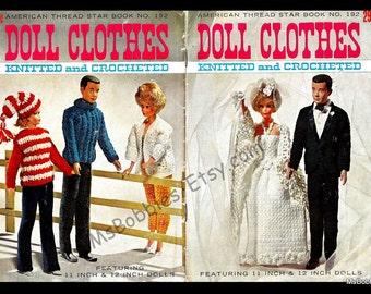 PDF Ebook - Vintage Barbie and Ken Clothing Patterns - More Than 15 Patterns To Crochet & Knit - PDF 06012923