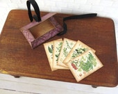 Botanical plants and berries plate prints with folder in 1:12 scale