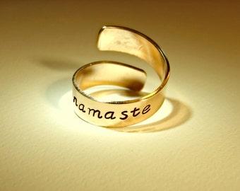 Namaste 14K gold filled  bypass ring - RG511G