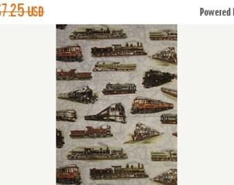 Trains Trains Trains--Hard Find Fabrics--LAST Piece
