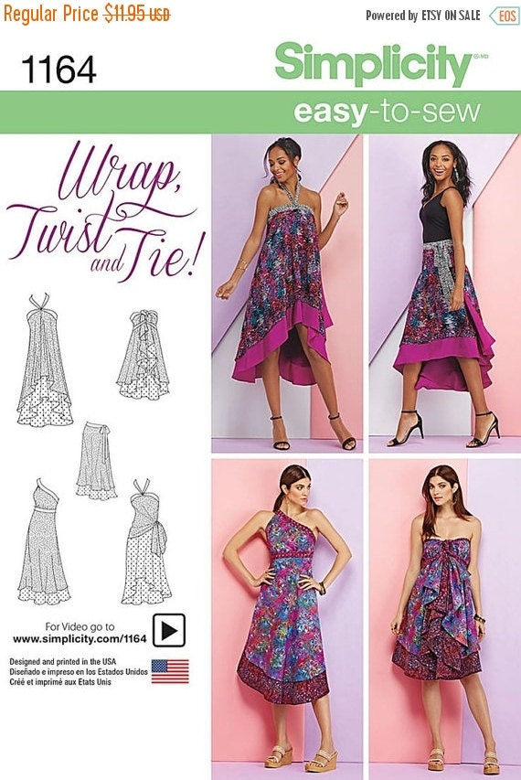 Fun Wrap Twist n Tie Patterns--Uncut Pattern--Multi  xp-xg sz -- 20-50% off Patterns n Books SALE