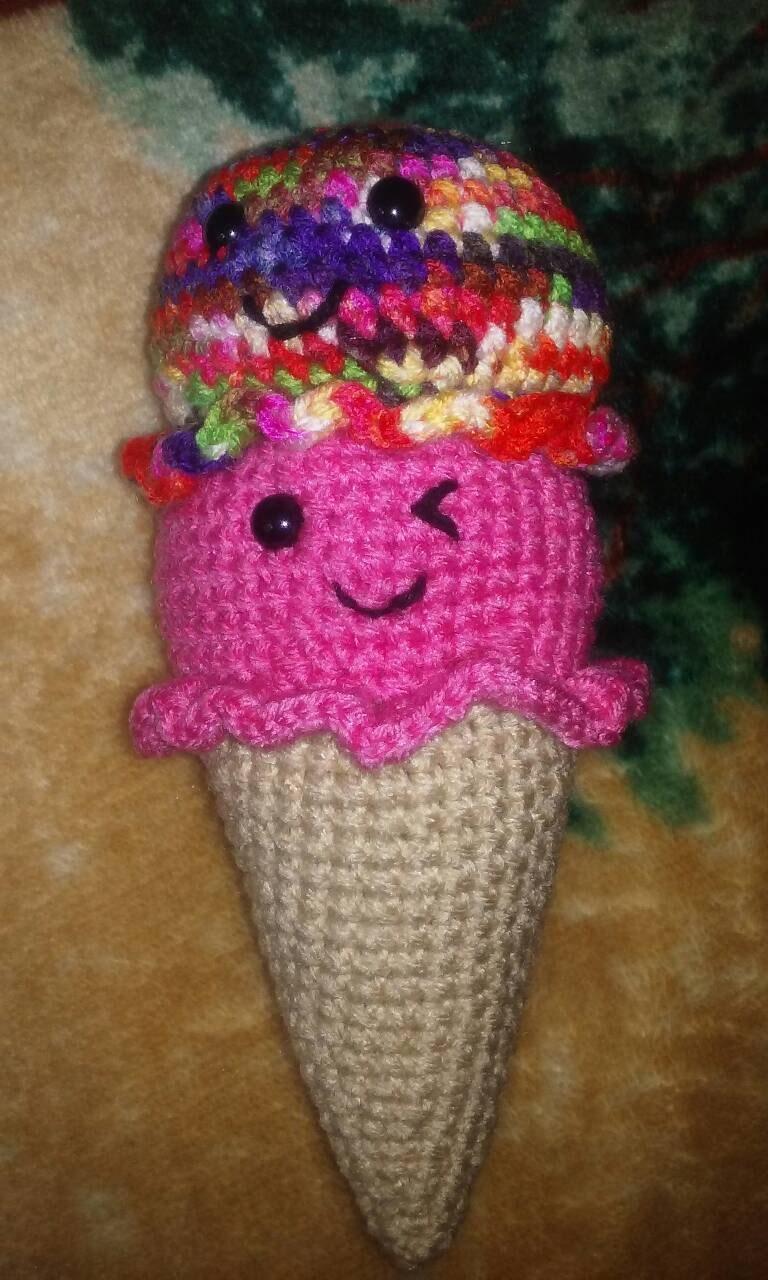 Amigurumi Ice Cream Cone : Amigurumi Ice cream cones various colors by treneemorris ...
