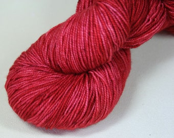 Scathach - Nixie merino nylon hand dyed sock yarn red kelpiefibers