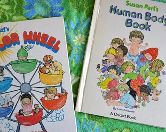 Set of Two Vintage 1970s Children's Books Illustrated by Susan Perl