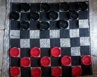 Oversize Floor or Table Checkers Game