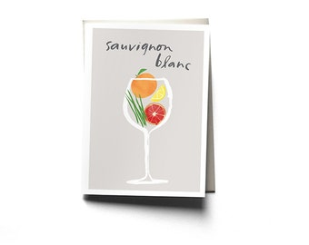 Sauvignon Blanc Greeting Card