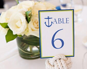 Ten Monkey Fist Wedding Knots for Table Numbers