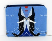 Whale Zipper Pouch, Charley Harper, Whales in Love, Small Zippered Coin Purse
