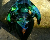 Glass pendant...cosmic spiral..by Erin Cartee