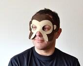 ADULT Monkey Mask, Carnival Felt Animal Mask, Dress up Party Accessory, Men, Women Mask, for Him, for Her