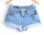 Levis High Waisted Shorts size 0 Shorts Vintage Levi High Waisted Jean Shorts High Waist Shorts Denim Cutoffs xs waist 28