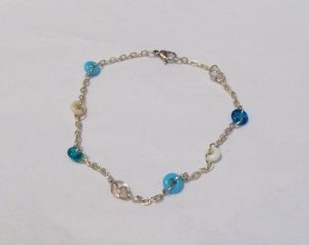 Blue Tones Circle Bracelet