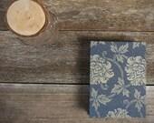 small hand-bound journal: Japanese book cloth dark blue/taupe by kata golda