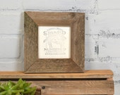 Rustic Natural Reclaimed Cedar 4x4 Picture Frame - IN STOCK - Handmade 4x4 Upcycled Wood Frame - Same Day Shipping