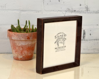 "7x7"" Square Picture Frame in Foxy Cove Style with Vintage Mahogany Finish - IN STOCK - Same Day Shipping - 7x7 Photo Frame"