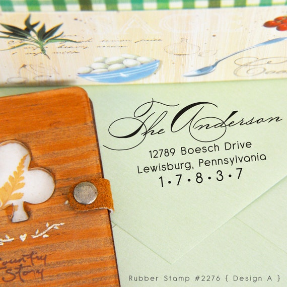 Calligraphy Stamp • Custom Address Stamp • Wedding Stamp • RSVP • Housewarming gifts • Ex Libris • Address Stamper (P2276)