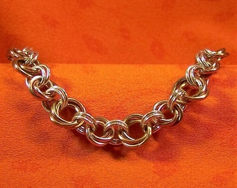 SALE, Rosette Chainmaille Bracelet