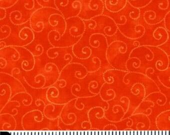 Moda Orange Swirls Fabric Marble 9908 14