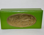 Vintage Lucien Piccard Display Box . Green . DaVinci Collection . Just the Box