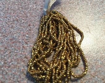 Antique French Steel cut  bead hank  26 BP