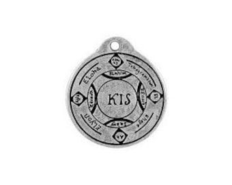 divine powers pendant good luck circle of solomon talisman