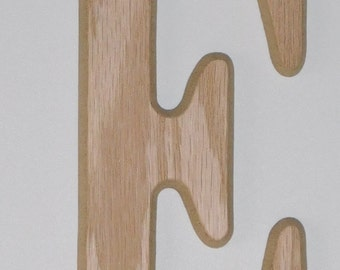 Wooden Letter E - 6 Inch