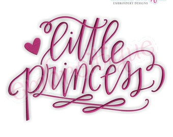 Little Princess Calligraphy Baby girl - Instant Email Delivery Download Machine embroidery design