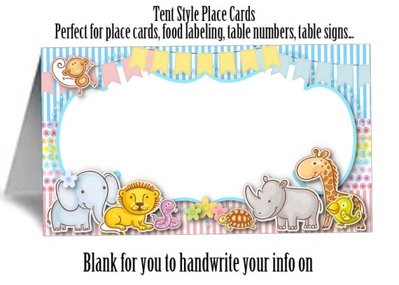 Il_570xn  sc 1 st  Catch My Party & 12 Tent Style Place Cards Food Label Cards Name Cards Table ...