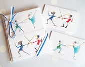 Reserved for scouthappy Only-4 Sets of Nutcracker Mini-Cards-10 Mini-Cards 10 Envelopes-10 Nutcracker Ballet Designs per Set