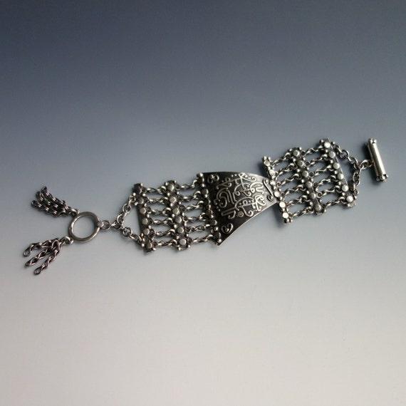 Islamic Calligraphy Bracelet Sterling Silver