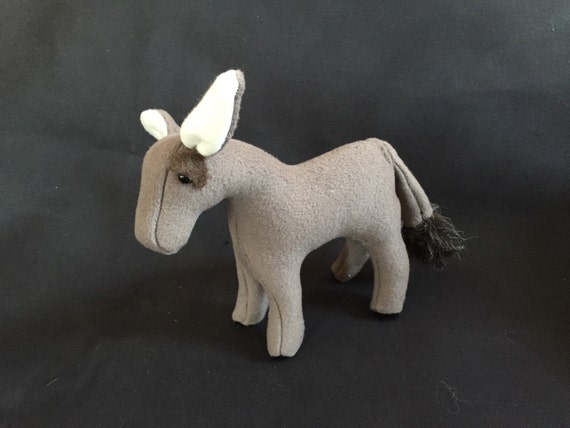 Plush Donkey for Hands-On Nativity Set by Engel Soft Sculpture
