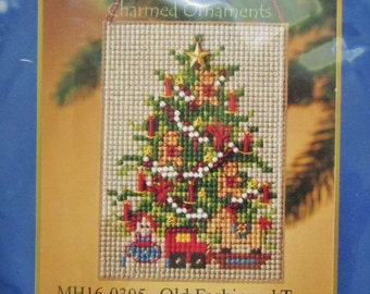 Mill Hill Festival of Trees Charmed Onament Kit, OLD FASHIONED TREE, MH16-0305