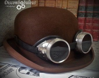 Steampunk Goggles  - Dieselpunk, Adventurer, Time Traveller, Explorer, Airship, Kraken, Burning Man Festival