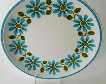 12 Inch Mid Century Daisy Mikasa Cera-Stone Platter